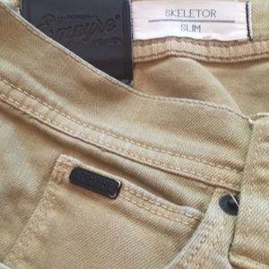 "Empyre Skeletor Slim Tan Skate Pants 30"" waist"